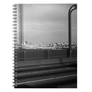 USA San Francisco Golden Gate Bridge 1970 Spiral Notebook