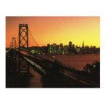 USA San Fransisco, Golden Gate at sunset Post Card