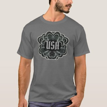 USA Scroll Work Logo T-Shirt