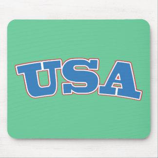 USA Seafoam Retro Mouse Pad