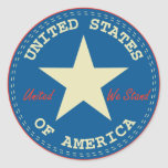 USA Seal Round Stickers