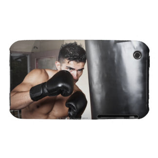 USA, Seattle, Portrait of young man boxing in Case-Mate iPhone 3 Cases