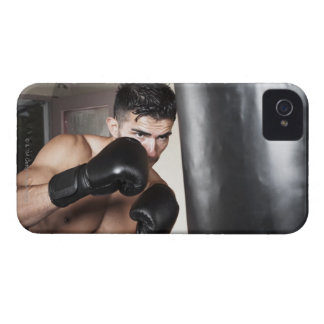 USA, Seattle, Portrait of young man boxing in iPhone 4 Case-Mate Cases