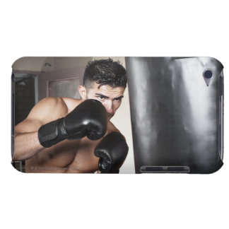USA, Seattle, Portrait of young man boxing in iPod Case-Mate Case