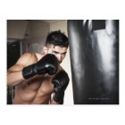 USA, Seattle, Portrait of young man boxing in Postcard