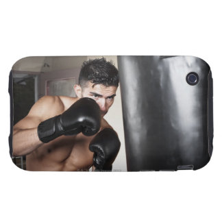 USA, Seattle, Portrait of young man boxing in Tough iPhone 3 Case
