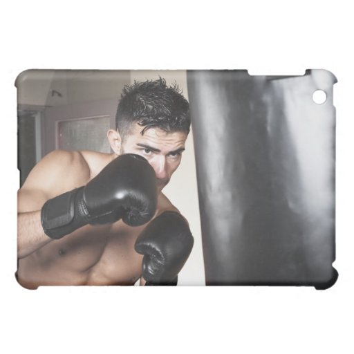 USA, Sele, Portrait of young man boxing in iPad Mini Covers