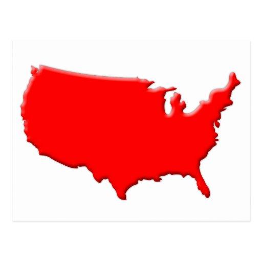 USA-shape-beds-A4 Tarjeta Postal
