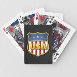USA Shield (on black metal) Playing Cards