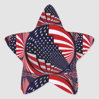 USA-Shines_ Pegatina En Forma De Estrella