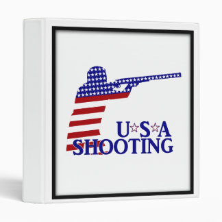 USA Shooting (Red White And Blue Rifle) 3 Ring Binder