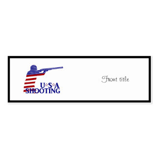 USA Shooting (Red White And Blue Rifle) Business Card Template