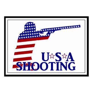 USA Shooting (Red White And Blue Rifle) Business Card Templates