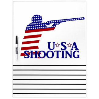USA Shooting (Red White And Blue Rifle) Dry Erase Boards