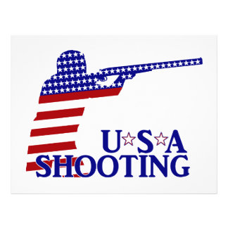 USA Shooting (Red White And Blue Rifle) Full Color Flyer