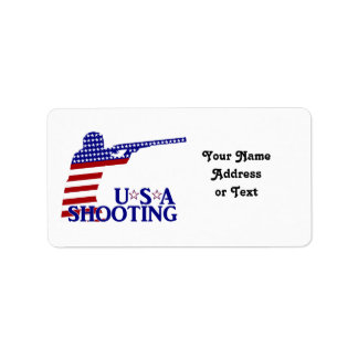 USA Shooting (Red White And Blue Rifle) Address Label