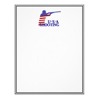 USA Shooting (Red White And Blue Rifle) Personalized Letterhead