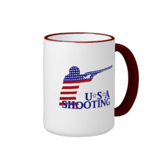 USA Shooting (Red White And Blue Rifle) Coffee Mugs