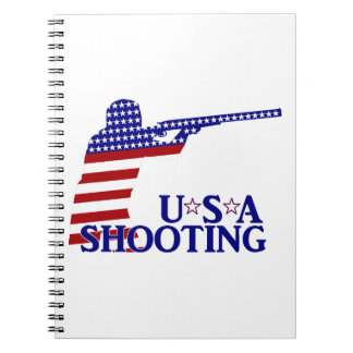 USA Shooting (Red White And Blue Rifle) Notebooks