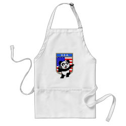Apron with American Shot Put Panda design