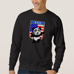 Men's Basic Sweatshirt with American Shot Put Panda design