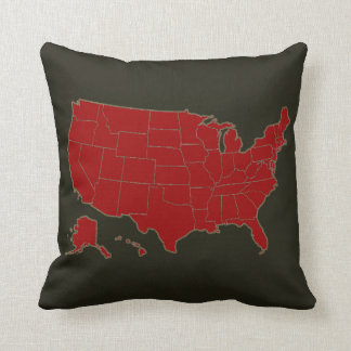 USA simple country-map Pillow