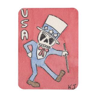 'USA' Skeleton, Uncle Sam Magnet by Kenneth Joyner