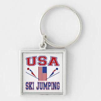 USA Ski Jumping Keychain