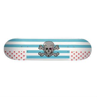 USA skull and cross bones Skateboard Deck