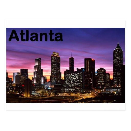 USA skyline at sunset (St.K) Post Card