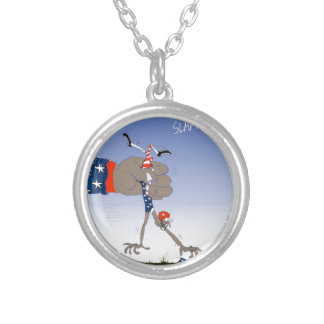 USA slam dunk, tony fernandes Silver Plated Necklace