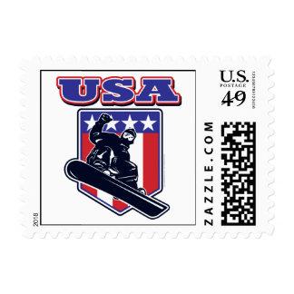 USA Snowboarders Postage