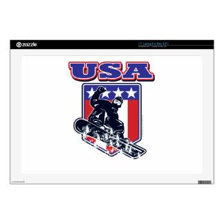"""USA Snowboarding 17"""" Laptop Skins"""