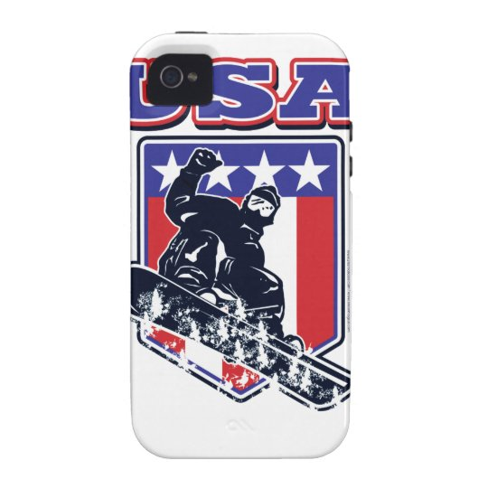 USA Snowboarding iPhone 4 Cover