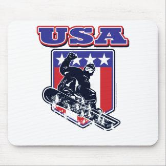 USA Snowboarding Mouse Pad