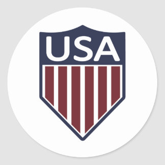 USA Soccer 1950 Classic Round Sticker