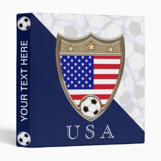 "USA Soccer 1"" 3 Ring Binders"