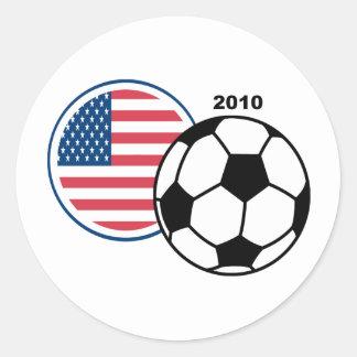 USA Soccer 2010 Classic Round Sticker