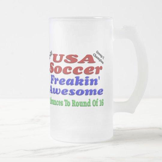 USA Soccer 2010 Frosted Glass Beer Mug