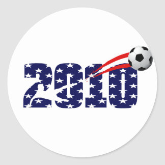 usa soccer 2010 logo classic round sticker