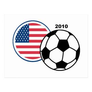 USA Soccer 2010 Postcard