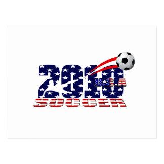 USA soccer 2010 stars and stripes Postcard