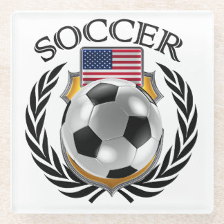 USA Soccer 2016 Fan Gear Glass Coaster