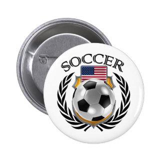 USA Soccer 2016 Fan Gear Pinback Button