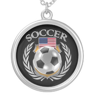 USA Soccer 2016 Fan Gear Silver Plated Necklace