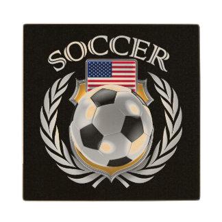 USA Soccer 2016 Fan Gear Wooden Coaster