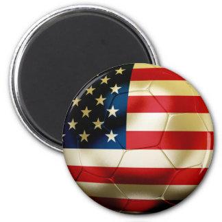USA Soccer 2 Inch Round Magnet