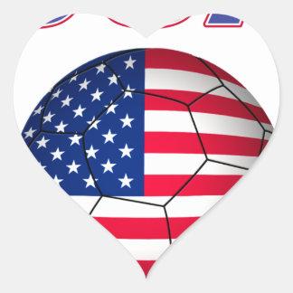 USA Soccer 3903 Heart Sticker