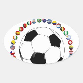USA Soccer 4017 Oval Sticker