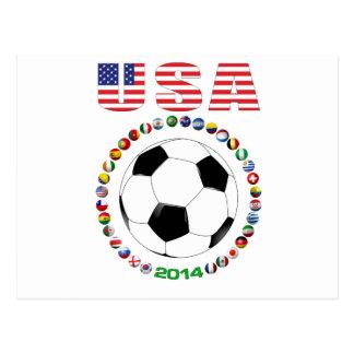 USA Soccer 4017 Postcard